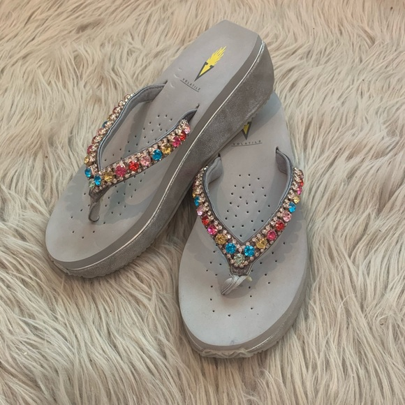 Volatile Rhinestone Sandals size 8